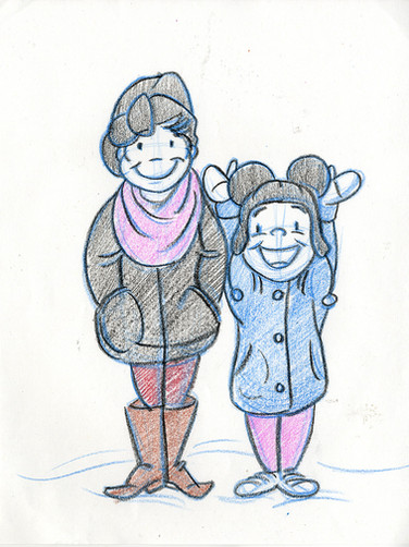 Sketch with Kids: Ella & Lily