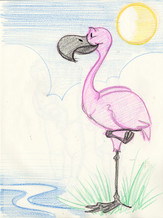 Sketch with Kids: Flamingo