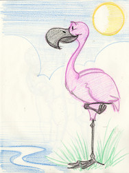 Sketch with Kids: Flamingo