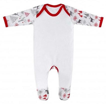 Baby Personalised Reindeer Print Rompersuit