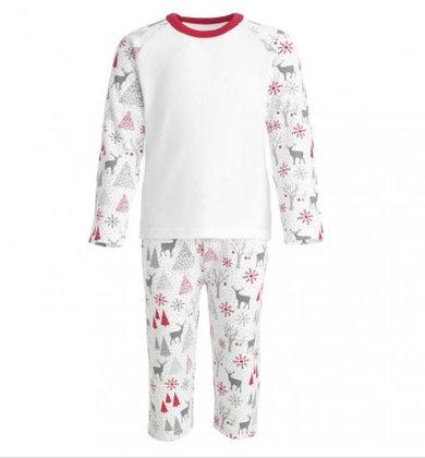 Child Personalised Reindeer Print Pyjama Set