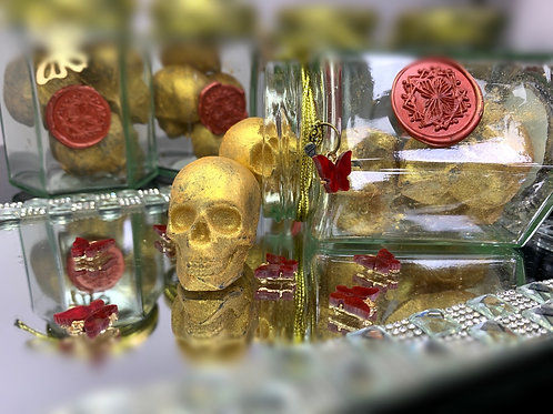 Gold Skull Luxury Wax Melts  (284hrs low temp burn)