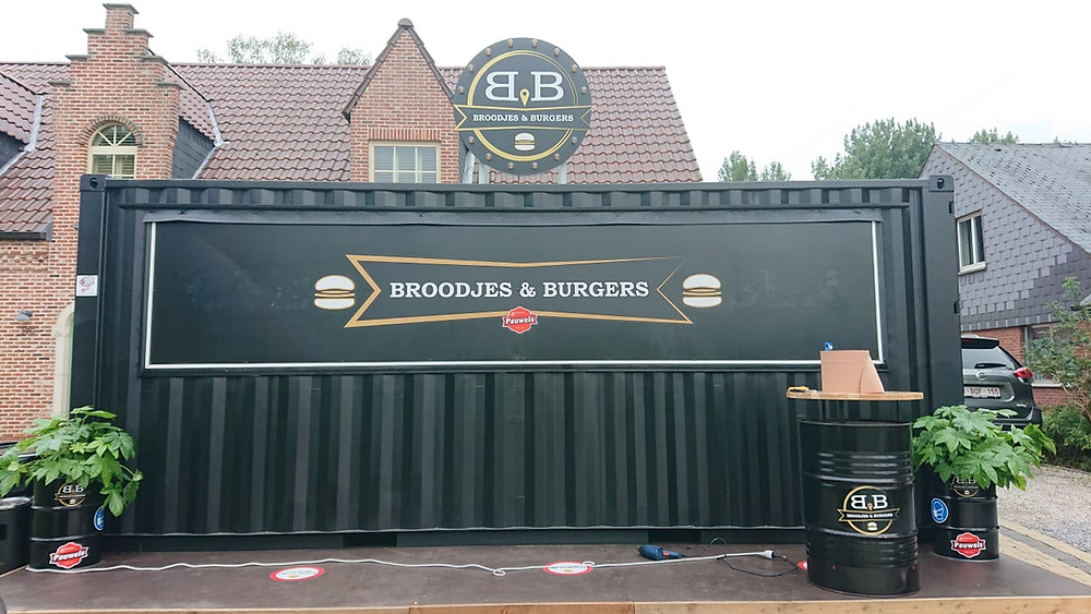 ContainerID Take-away Hamburger sandwich bar restaurant tailor made 20ft shipping container