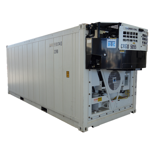 Thermoking clip-on genset on a ContainerID reefer container