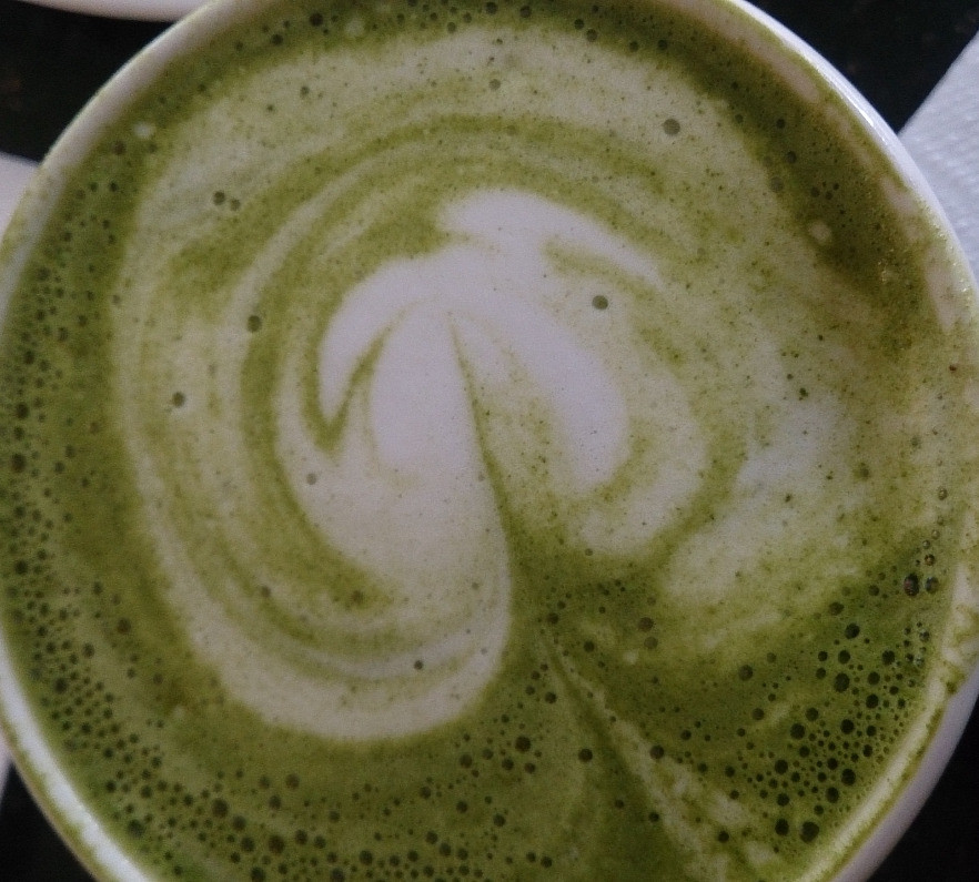 Matcha without dairy is better.