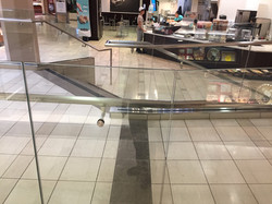 Mall glass protection