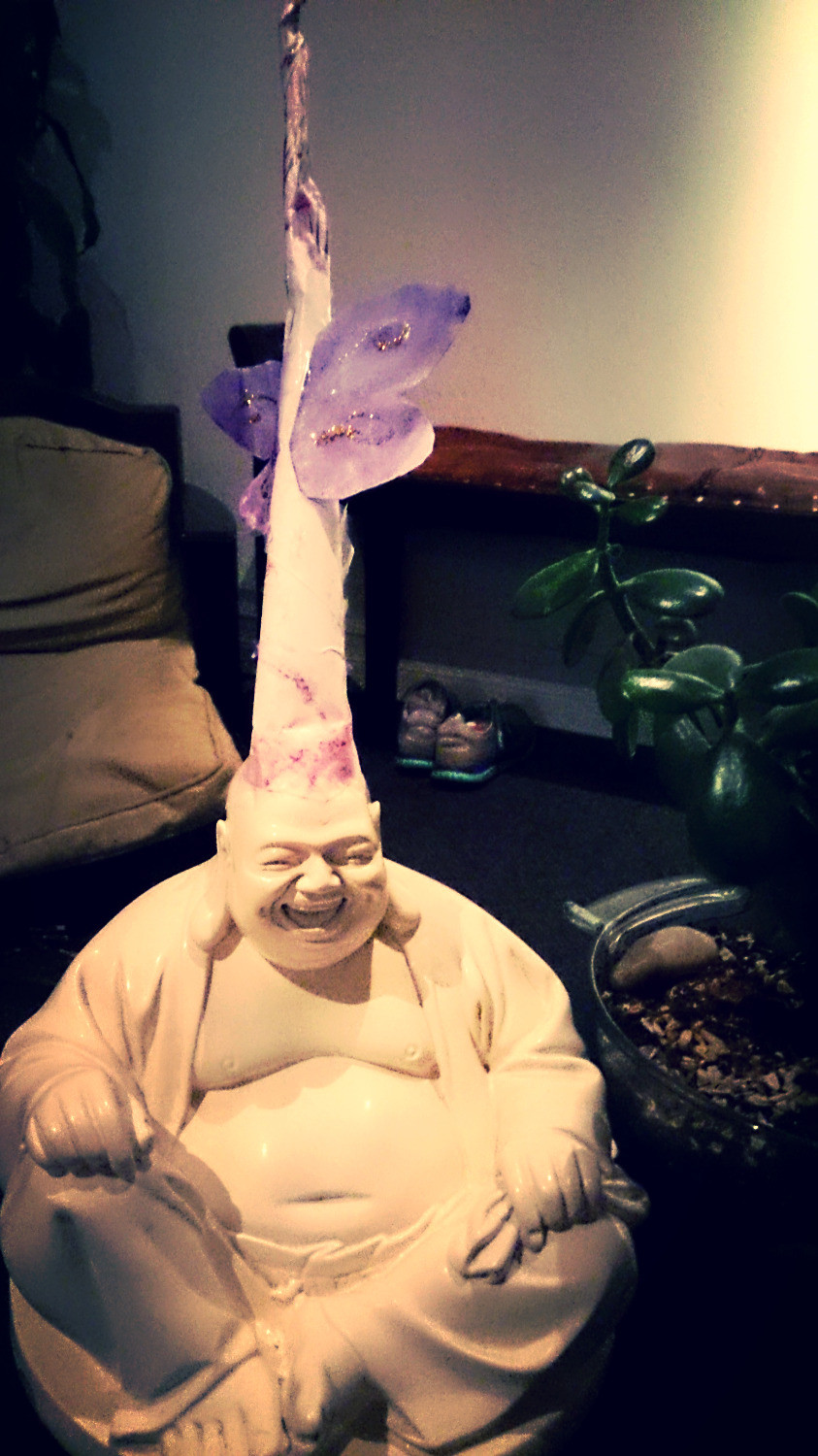 Buddha is a happy unicorn!