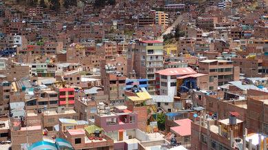 Puno, a lake shore town of Titicaca