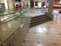 Mall rail at handicap ramps