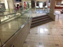 Mall rail at handicap ramps