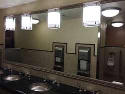 Restroom mirror vandalism