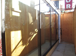 New storefront glass