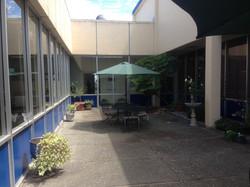 Office atrium with tint film