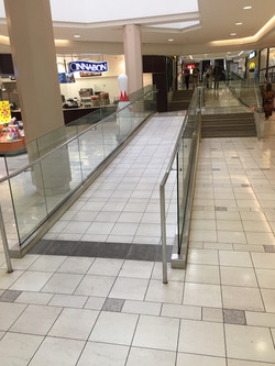 Mall ADA ramp railing
