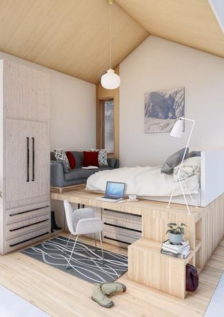 High performance efficient solar cabin