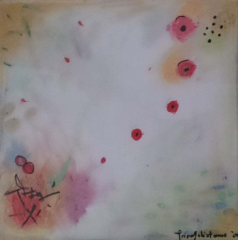 """""""Birth of Autumn"""", creating space with oil pastel, 2004, Quezon City, PH"""