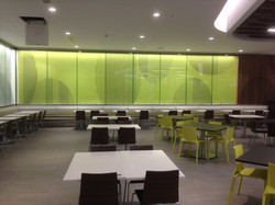 Mall glass branding walls
