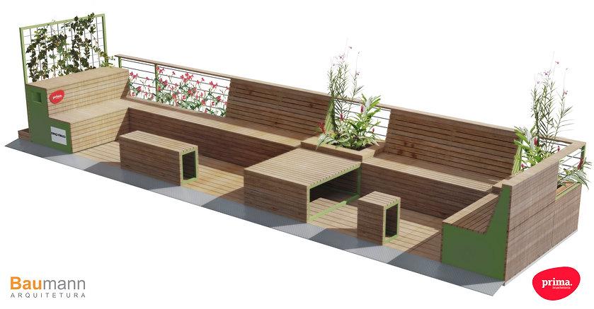 Paradas Cariocas - Prima Bruschetteria - Leblon - Parklet - Projeto e Execução Baumann Arquitetura