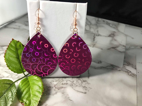 Pink and Purple Holographic Rainbow Circles