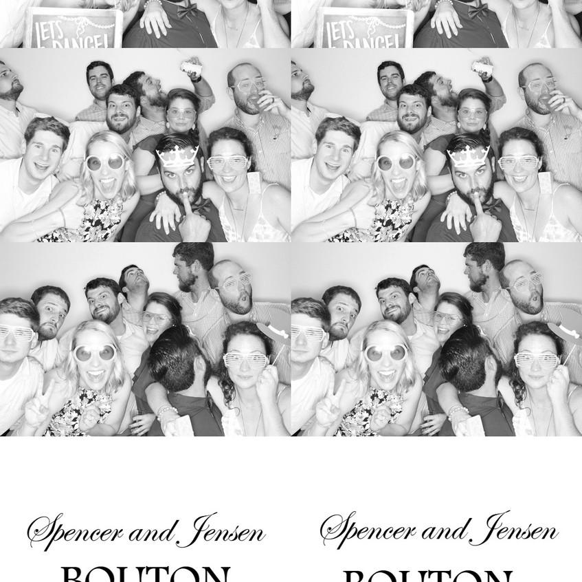 Wedding Group Black and White Photos