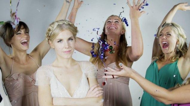 Bride and Bridesmaid Slow Mo