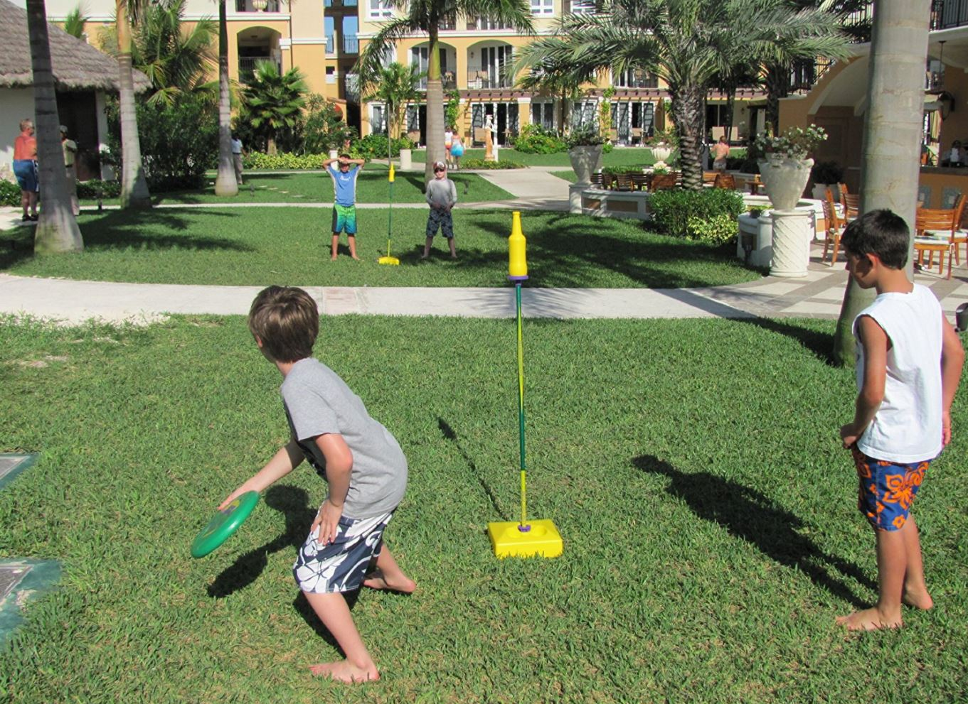 Frisbee Bottle Battle Game - Party Rentals - Pompano Beach, FL