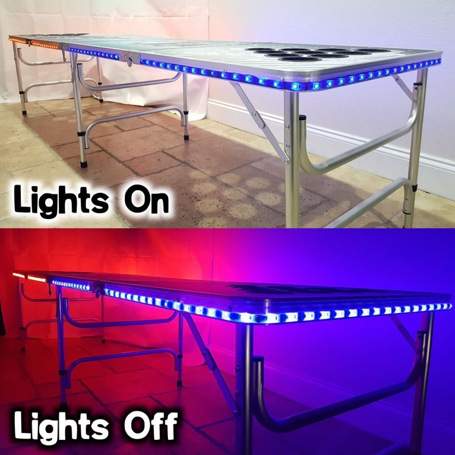 LED - Dry Eras Beer Pong Table - Party Rentals in South Florida - Fort Lauderdale, FL 786-423-8759