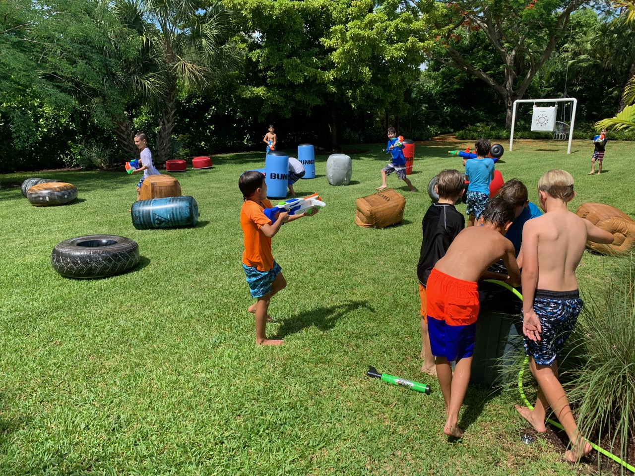 NERF Water Guns - Birthday Party - Miami