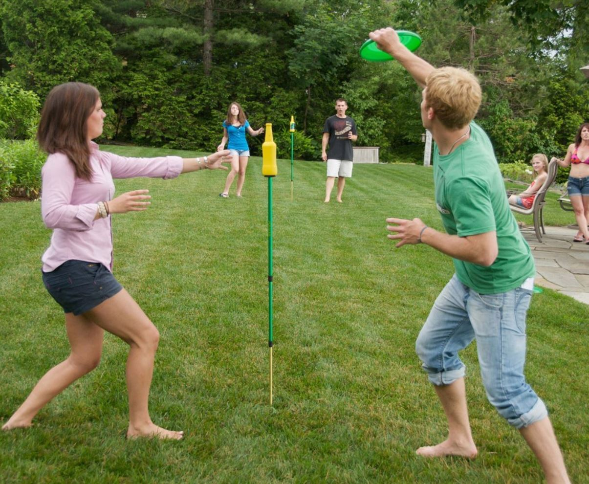 Frisbee Bottle Battle Game - Party Event Rentals - Boca Raton, FL