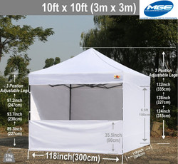 10 x 10 White Tent Rental - Party Rental Services - Boca Raton 786-423-8759