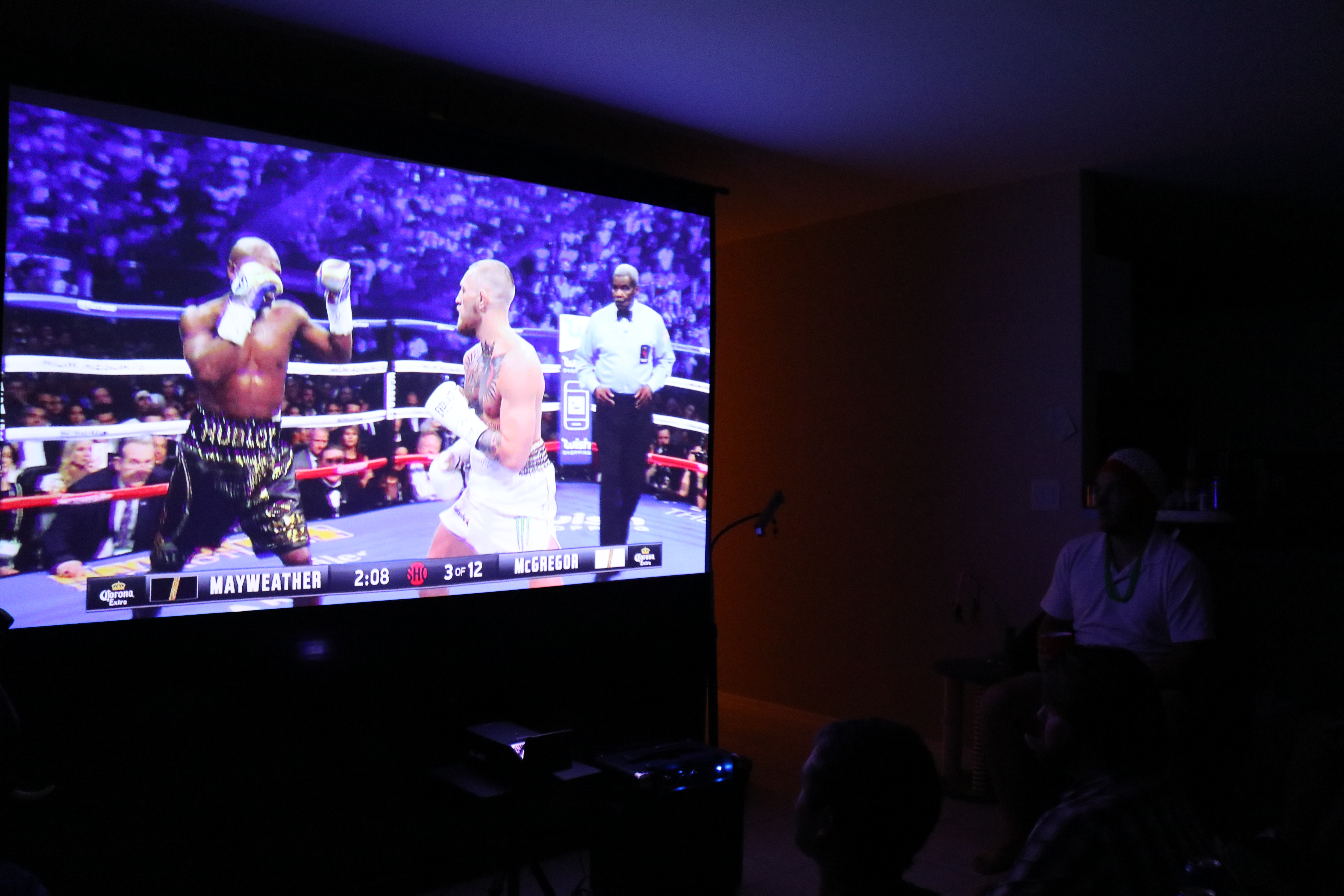 Sports Night Projector Setup