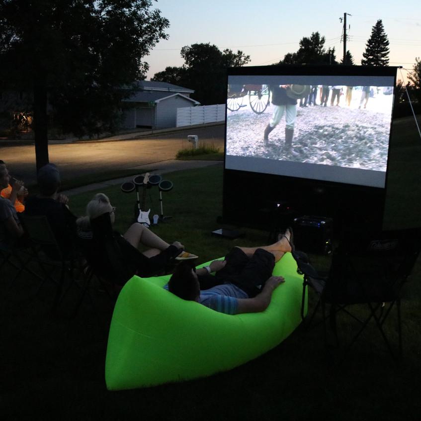 Backyard projector rental Miami