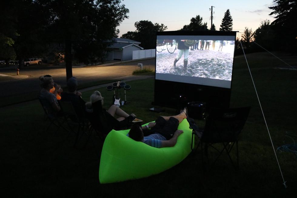 Backyard Projector Miami