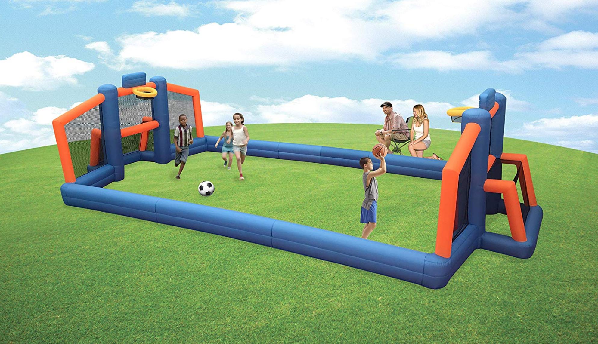 Inflatable Basketball-Soccer Court Flori