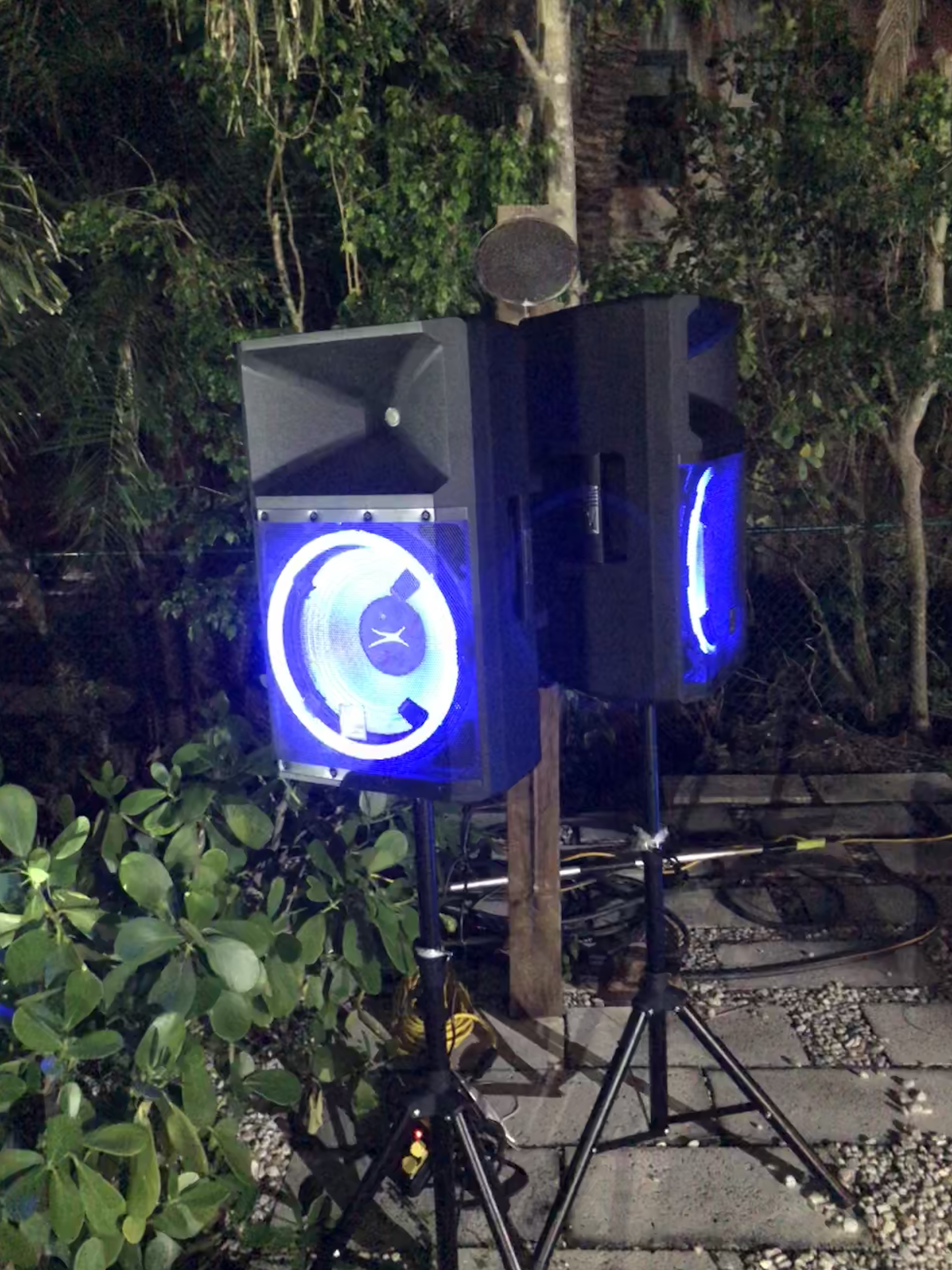 15_ LED Audio Speakers - Auido Rentals - Fort Lauderdale 786-423-8759