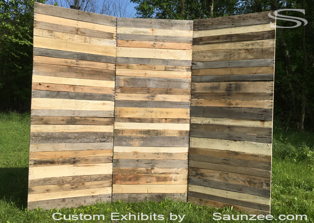 Wood Custom Backdrop for Photo Booth