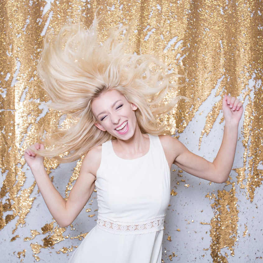 Sequins backdrop photobooth