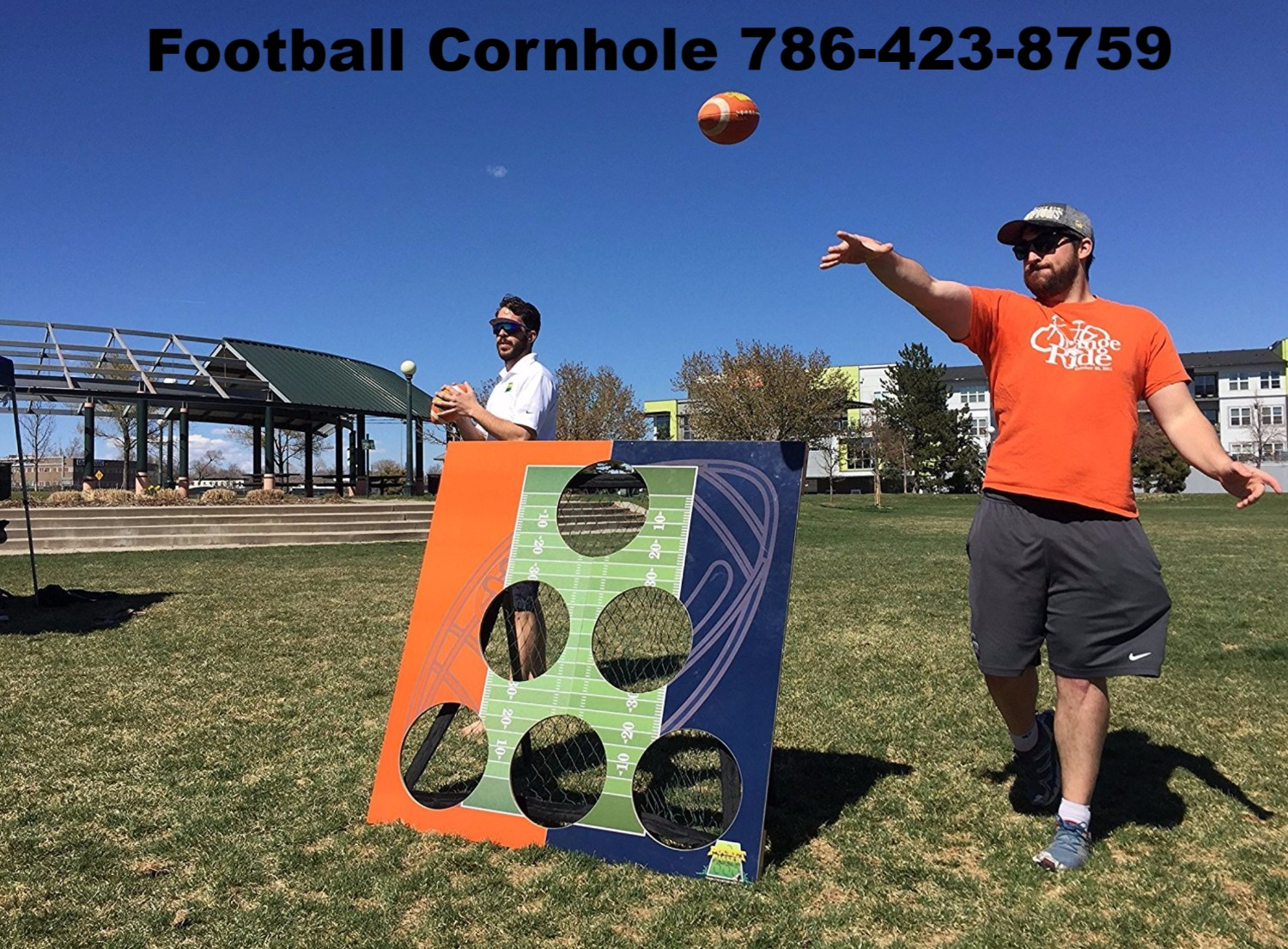 Football Cornhole - Outdoor Rentals - West Palm Beach, FL 786-423-8759_edited