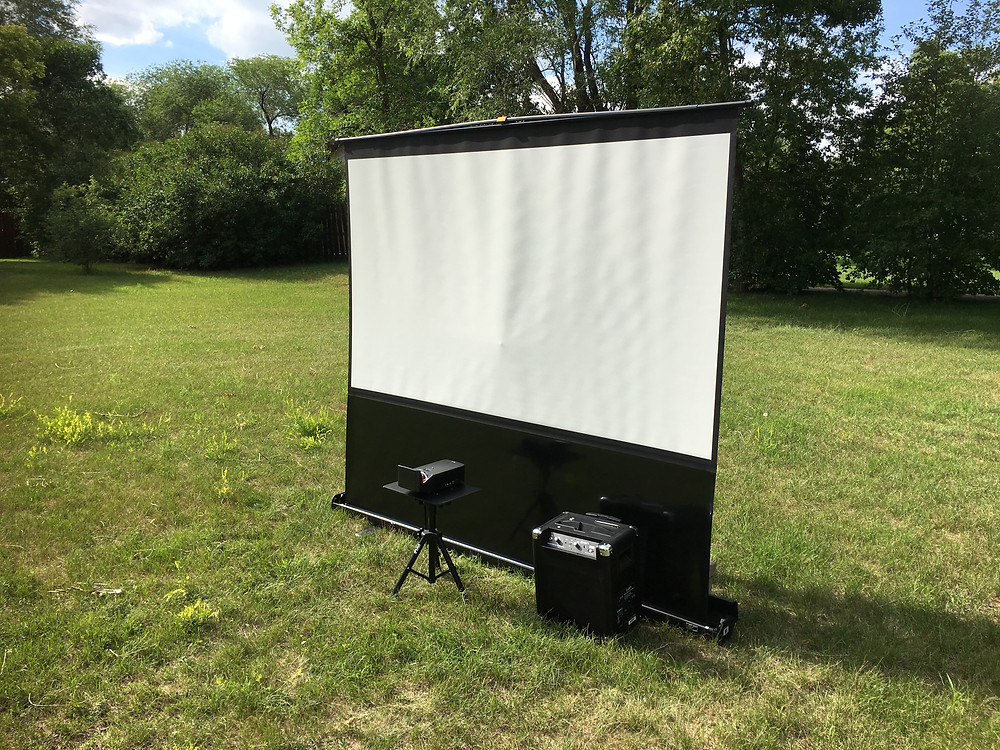 "100"" Projector Setup for any video gaming party Fort Lauderdale"