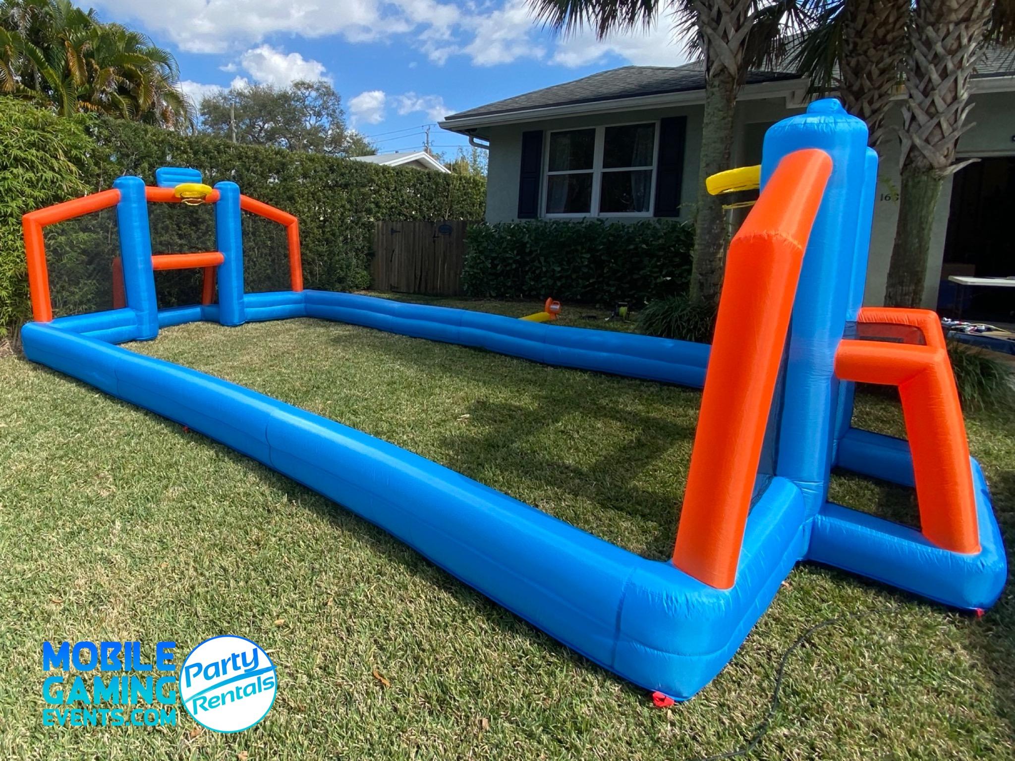 Inflatable Basketball-Soccer Court Renta