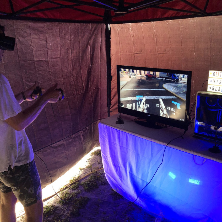 Outdoor Virtual Reality Party