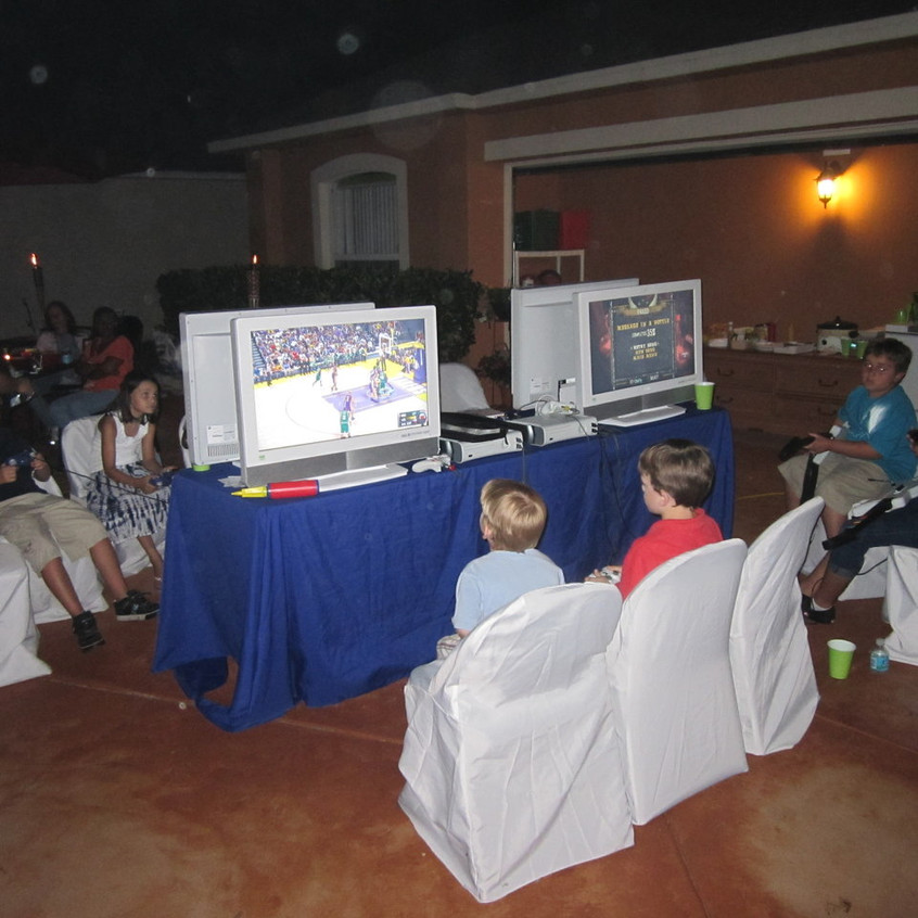 Outdoor Video Gaming Party
