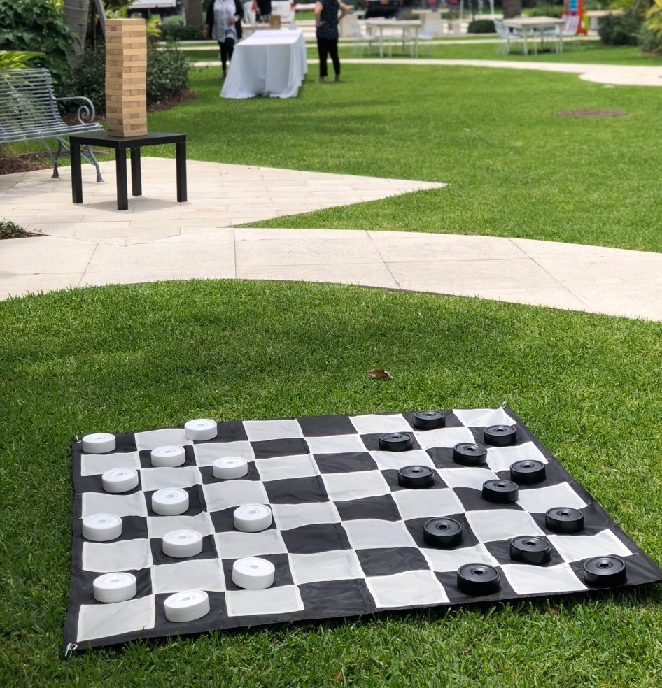 Giant Checkers Rental Florida - Birthday