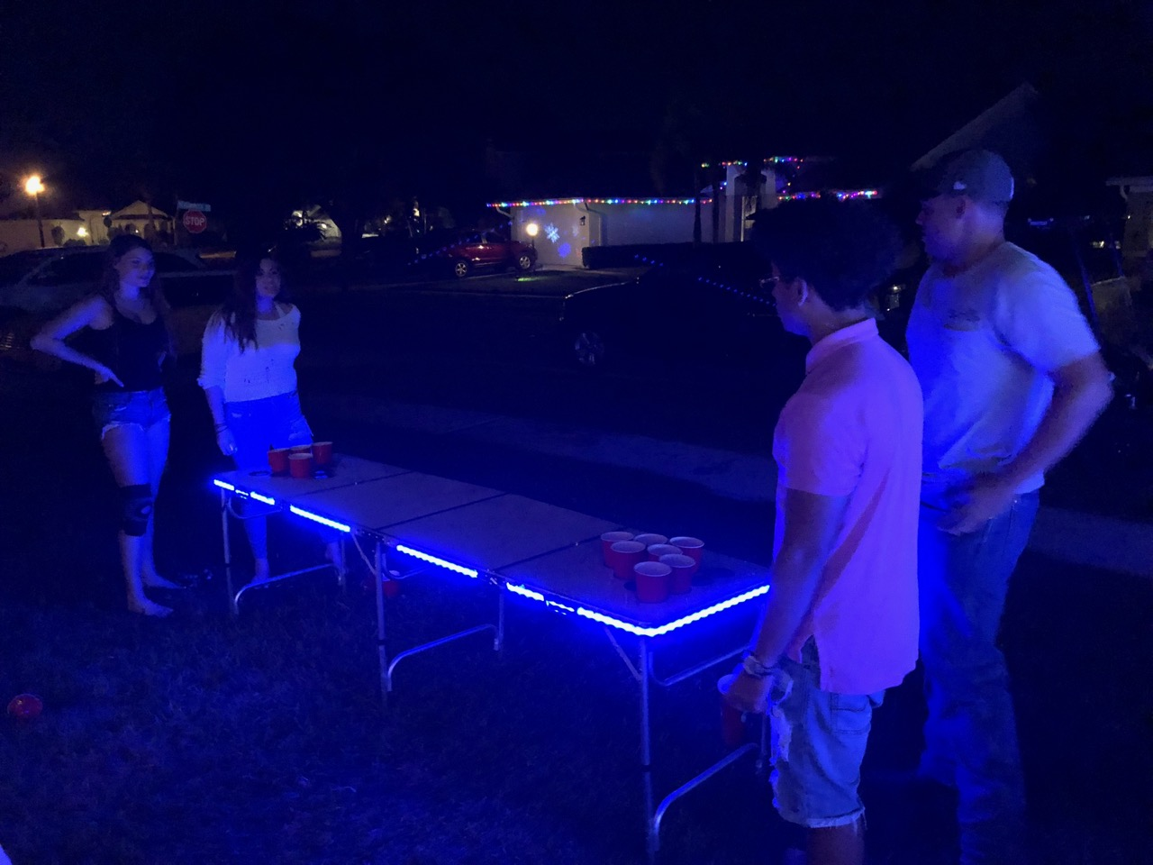 LED Beer Pong Table Rental Florida - Par