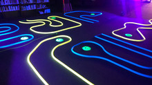 Indoor Blacklight Mini Golf Rentals Miami - 786-423-8759