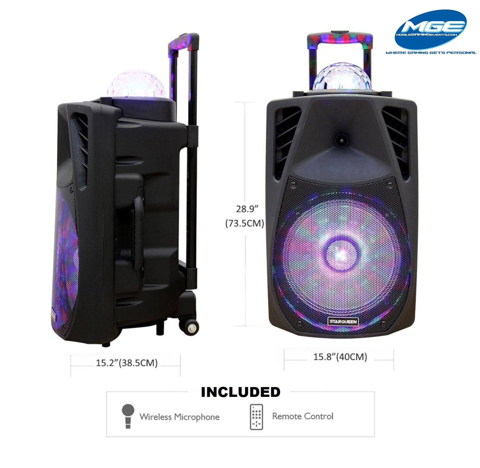 12 Inch LED Light Ball Speaker - Audio Party Rental Service - West Palm Beach 786-423-8759