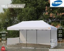 10 x 20 White Tent Rental - Party Rental Services - Pompano Beach, FL 786-423-8759