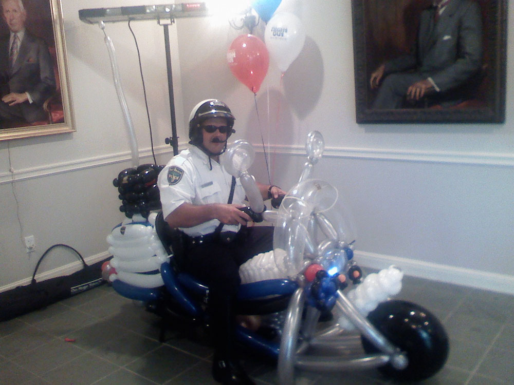 Police Motorcycle Balloon - Hollywood Florida - Birthday Party