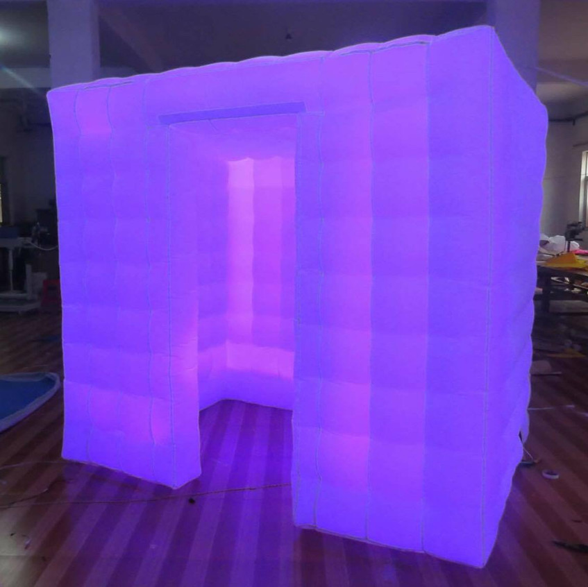 Enclosed Cube LED Photobooth Miami
