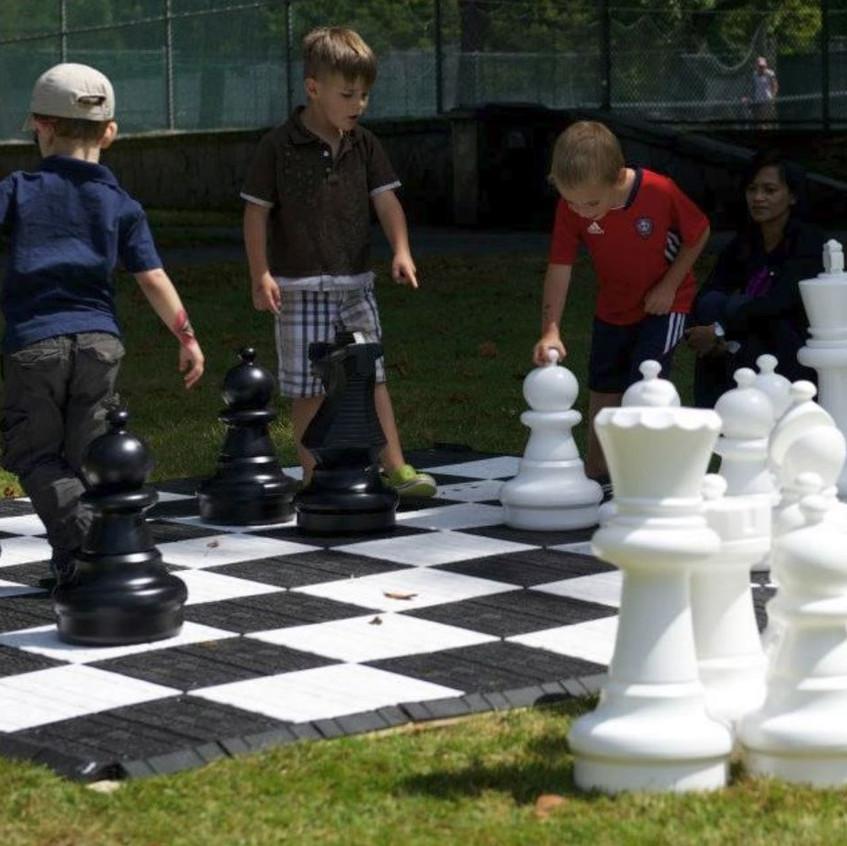 Jumbo Chess Event Rental - Sunrise Flori